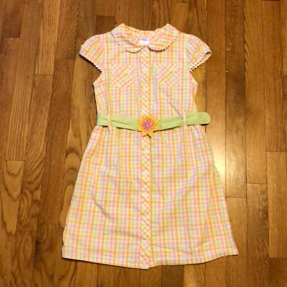 Gymboree Other - Gymboree Plaid Button-Down Dress